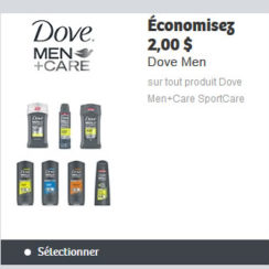 dove men coupon rabais