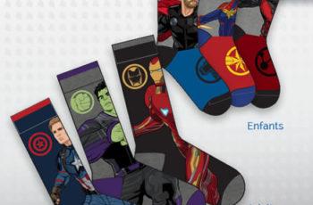 chaussettes avengers gratuites